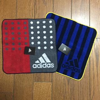 アディダス(adidas)のアディダス ハンドタオル 2枚 ☆新品☆(タオル/バス用品)