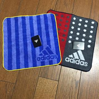 アディダス(adidas)のアディダス ハンドタオル 2枚☆新品☆(タオル/バス用品)