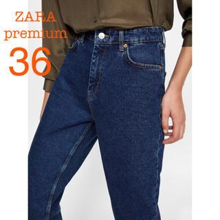 ZARA - 新品未使用 ZARA premium ハイウエスト デニムパンツ 36