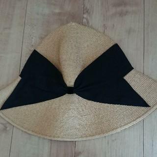 バーニーズニューヨーク(BARNEYS NEW YORK)のアシーナニューヨーク ラフィア 帽子 リサコ(麦わら帽子/ストローハット)