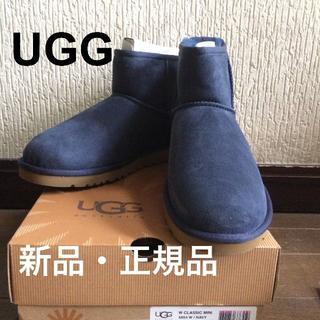 アグ(UGG)のUGG 新品◇正規品 クラシックミニ ムートン ネイビー US 9(ブーツ)