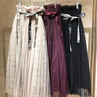 《SNIDEL》大人気完売品☆ロゴ刺繍チュールスカート