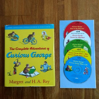 Curious George Complete Adventures 本とCD(洋書)