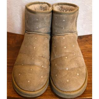ジーユー(GU)のGU スタッズ付き ボア ショートブーツ 24㎝程度(ブーツ)