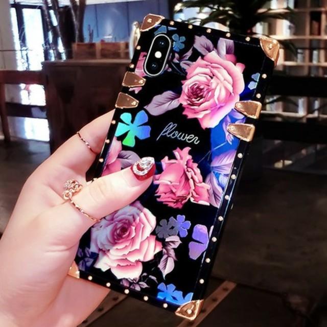 ♡かわいい♡ローズ柄iPhoneケースの通販 by すなふきん's shop|ラクマ
