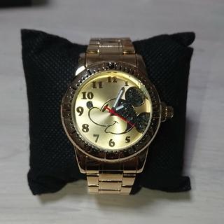 セガ(SEGA)の【未使用】ミッキー 腕時計 ゴールド(腕時計)