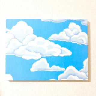 ファブリックパネル(もくもく雲柄)(ファブリック)