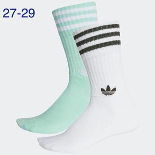 アディダス(adidas)の【新品】アディダスオリジナルス♡27-29靴下2足ソリッドクルーソックス(ソックス)