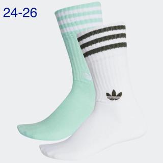 アディダス(adidas)の【新品】アディダスオリジナルス♡24-26靴下2足ソリッドクルーソックス(ソックス)