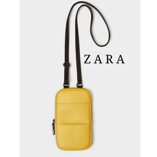 ザラ(ZARA)のZARA 携帯電話ケース イエロー ミニ ショルダーバッグ ポーチ (ショルダーバッグ)