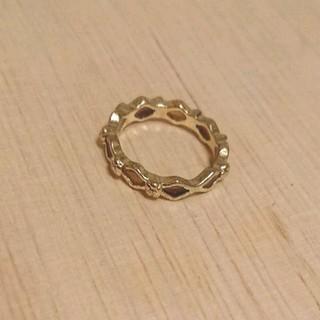 ブラウンひし形モチーフリング 新品未使用(リング(指輪))