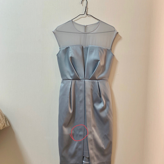 cb604b6e1753c ラグナムーン(LagunaMoon)のシアー♡レングスドレス(ミディアムドレス)