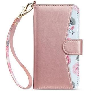 【ピンクがかわいい】iPhone7/ iPhone8 手帳型 スマホケース  (スマホケース)