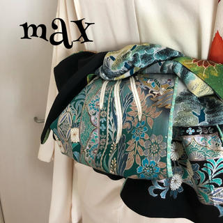 兵児帯 黒 半幅 ハンドメイド  大人用 MAX(帯)