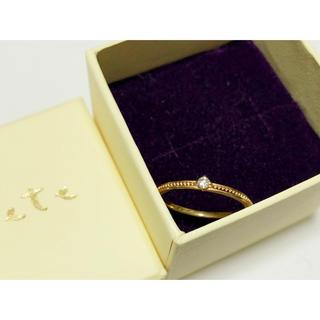 アガット(agete)のagete アガット K10 0.03 一粒 ダイヤモンドリング 5号 ピンキー(リング(指輪))