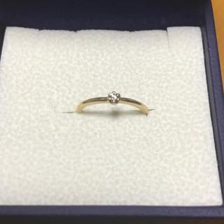 K10 イエローゴールド ダイヤモンド ピンキーリング(リング(指輪))