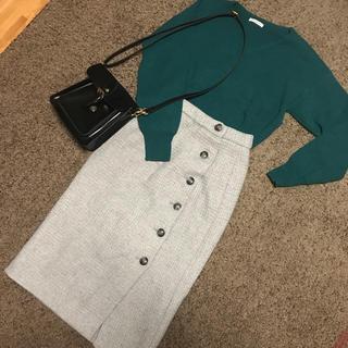 テチチ(Techichi)の※さなさん専用ボタン付タイトスカート、グリーンフレアスカート(その他)