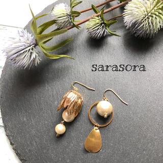 448 tsubomi× pearl earrings(ピアス)