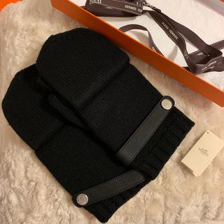 エルメス(Hermes)のHERMES エルメス メンズ手袋 カシミヤ ディアスキン 未使用 美品(手袋)