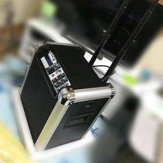 クラシック(CLASSIC)のイベント・路上ライブセット(Bluetooth搭載)持ち運び可 スタンドマイク付(パワーアンプ)