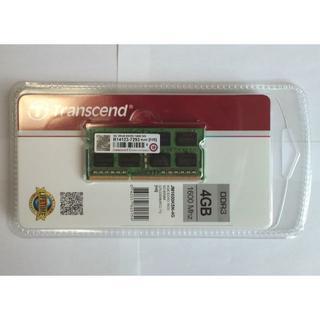 トランセンド(Transcend)の新品 ノートPC用メモリ 4GB DDR3 1600 トランセンド(PCパーツ)
