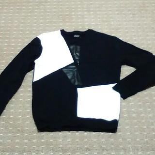 ザラ(ZARA)のトレーナー スウェット ZARA メンズ 白黒(スウェット)