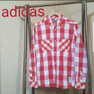 アディダス(adidas)のadidas チェックシャツ(シャツ)