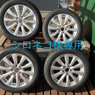 ①新車外し 215-55R17ホイールタイヤセット1本(タイヤ・ホイールセット)