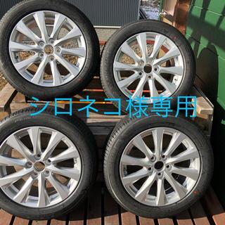 ④新車外し 215-55R17ホイールタイヤセット1本(タイヤ・ホイールセット)