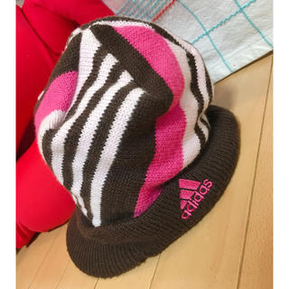 アディダス(adidas)のadidas ニット帽 キャスケット  ゴルフ(ニット帽/ビーニー)