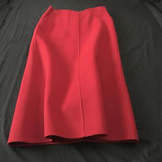 ダナキャラン(Donna Karan)のスカート M レナウールxカシミア 新同(ひざ丈スカート)