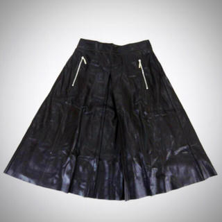 フォクシー(FOXEY)のお値下げ 美品 フォクシー人工皮革大変使いやすいスカート40(ロングスカート)
