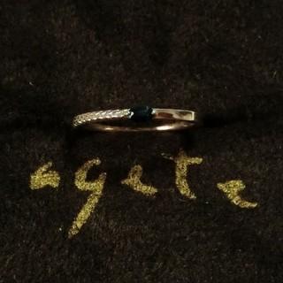 アガット(agete)のアガット ブルーサファイアのK10ピンキーリング 5号(リング(指輪))