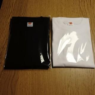 ジーユー(GU)のヘヴィーウェイトTシャツ 厚手生地 新品2枚セット 白黒(Tシャツ/カットソー(半袖/袖なし))