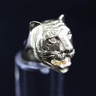 K18 ダイヤモンド タイガー リング(リング(指輪))