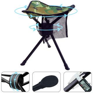 折りたたみ椅子 360度 回転 チェア 三脚 スツール キャンプ用