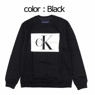カルバンクライン(Calvin Klein)の新品 タグ付き カルバンクライン トレーナー   ブラック(スウェット)