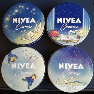 ニベア(ニベア)のニベア NIVEA ドイツ【2019限定デザイン】150ml×4柄 青缶(ハンドクリーム)