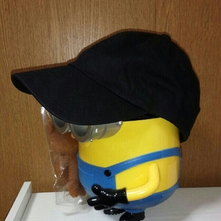 ジーユー(GU)のGU♧黒キャップ帽子(キャップ)