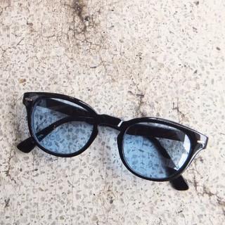 バイカーシェード サングラス●クロエキス×ライトブルー 薄い青レンズ(サングラス/メガネ)