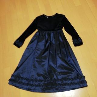 115aa5b4c51ad ローラアシュレイ(LAURA ASHLEY)のローラ・アシュレイ8才130紺ドレス発表
