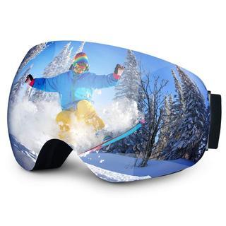 スノーボードゴーグル 99%UVカット換気システム曇り防止球面二重層レンズ