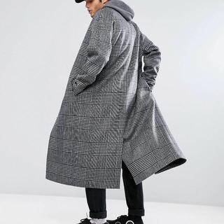 asos chester coat グレンチェック