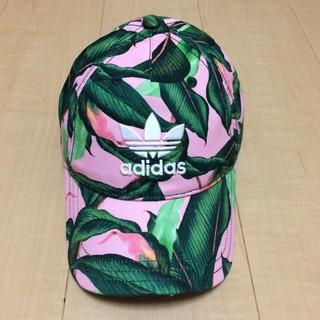 アディダス(adidas)の新品 アディダス キャップ 帽子 adidas ピンク グリーン 葉っぱ 花柄 (キャップ)