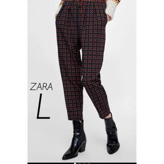 ザラ(ZARA)の【新品・未使用】ZARA プリントパンツ L(カジュアルパンツ)