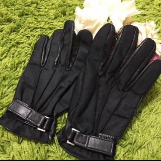 バーバリー(BURBERRY)の新品burberryバーバリー❤︎レディレザーグローブ(手袋)
