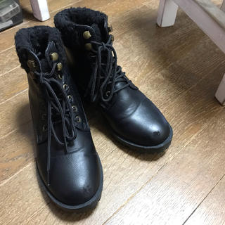 シマムラ(しまむら)のマーチン風ブーツ23.5cm(ブーツ)