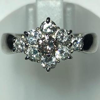 大特価! PT900 プラチナ900 ピンクダイヤモンド ダイヤ リング(リング(指輪))