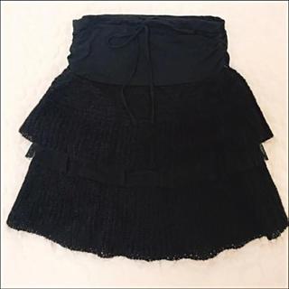 ジェットレーベル(JET LABEL)のジェットレーベルのブラックチュールスカート(ひざ丈スカート)