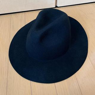 ジーユー(GU)のGU ハット 帽子 黒 ブラック(ハット)